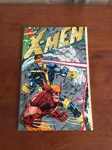 X-MEN-1-Oct-1991-Jim-Lee-GATEFOLD-COVER-Collector-039-s-Omega-Red