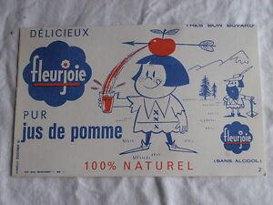 Ancien Buvard Fleurjoie pur jus de pomme HAMKSTnR-09120706-742294907