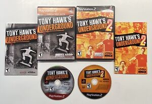 Lot of 2 PS2 (Playstation 2) Tony Hawk's Underground 1 and 2 Complete TESTED