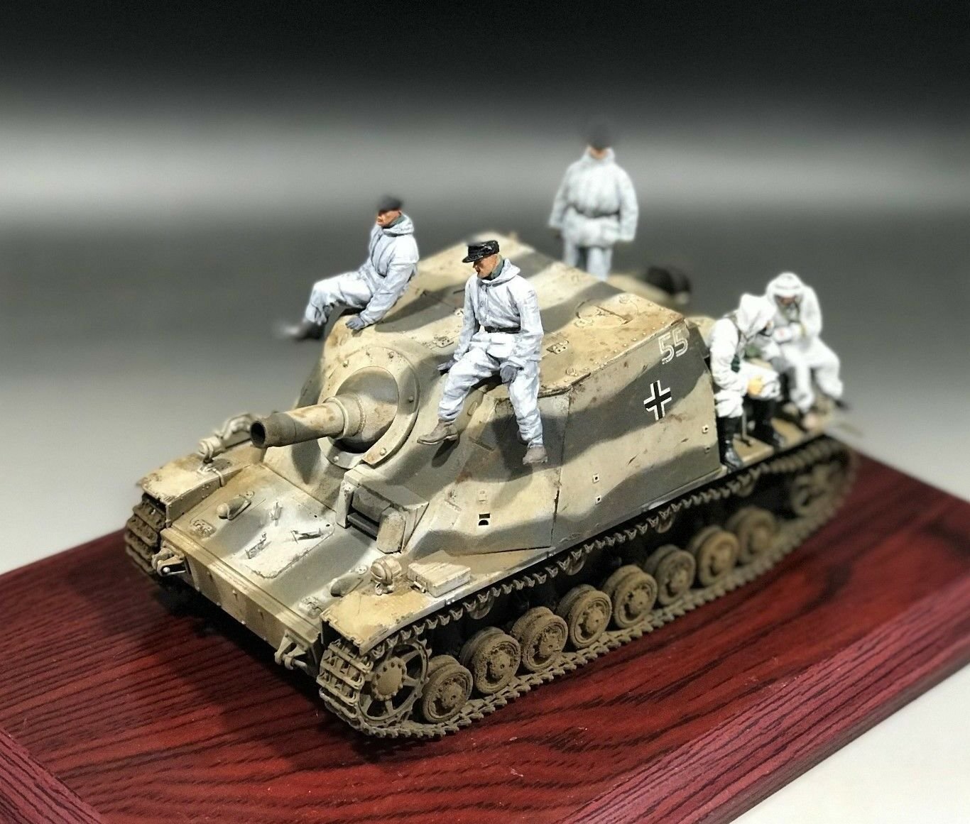 1/35 construido Hobbyboss alemán Sturmpanzer IV temprano Sd.Kfz.166 Brummbar 80134