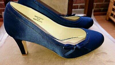 Debut Royal Blue Satin court Shoes