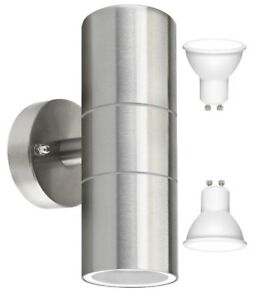 LED-Modern-Stainless-Steel-Up-Down-Outdoor-Double-Wall-Light-Cool-White-Light