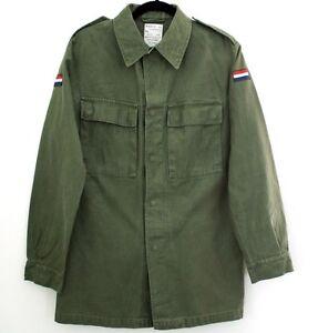 ac89ceaec9c3e La imagen se está cargando Hombre-Autentico-Holandes-Camisa-Estilo-Militar -Ejercito-de-
