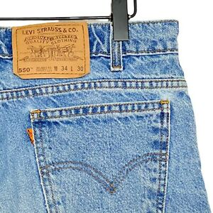 Levi-s-VTG-80s-Orange-Tab-550-Relaxed-Fit-Tapered-Leg-Jeans-Mens-34x30