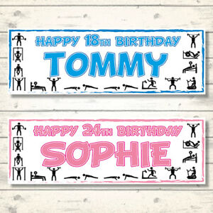 2-PERSONALISED-GYM-BIRTHDAY-BANNERS-800mm-x-297mm