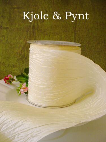 par 1 m carré Crash crashband décoration de table 10 cm crème 420 Mariage 1,5 €//m