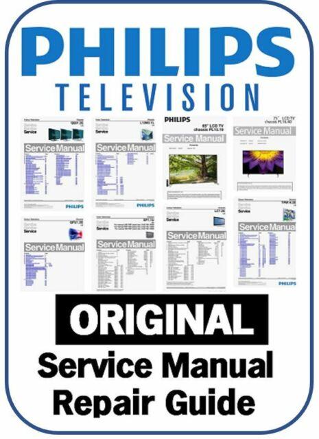Philips Plasma Lcd Led Smart 3d 4k Tv Service Manual