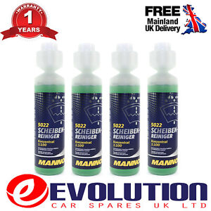 4-X-250-ML-MANNOL-WINDOW-CLEANER-CONCENTRATE-WATER-WIPER-MNL-5022