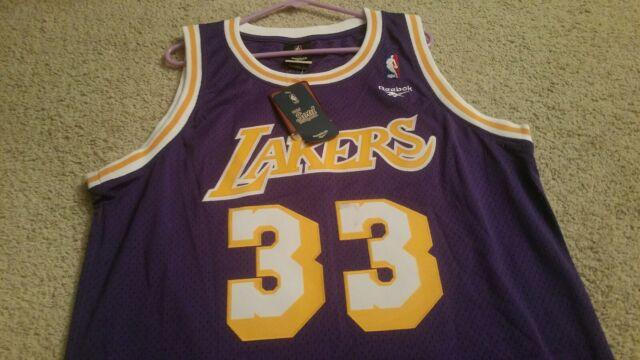 brand new 1e906 a4d73 Reebok Los Angeles Lakers Kareem Abdul-Jabbar Throwback Swingman Jersey  Size L
