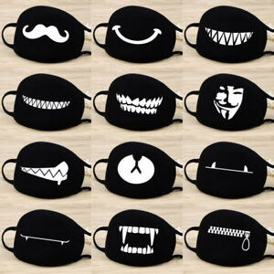 Adult-Unisex-Black-Anti-Dust-Cotton-Mouth-Face-Mask-Half-Masks-Outdoor-Cycling