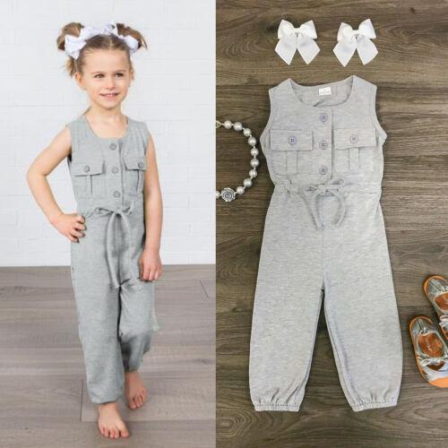 Fashion Bébé fille ange Body Combinaison tenues pantalons longs vêtements