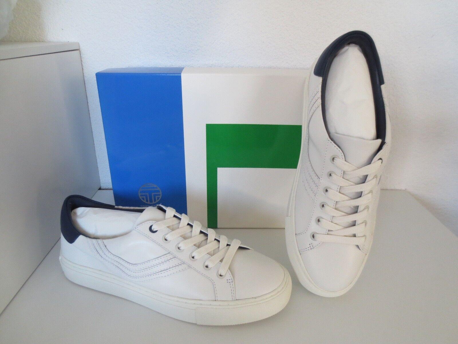 TORY BURCH  CHEVRON BLOCK Sneakers Gr.40 Navy US 9 Weiß / Navy Gr.40 Schuhe Sneaker neu 9bd8b7