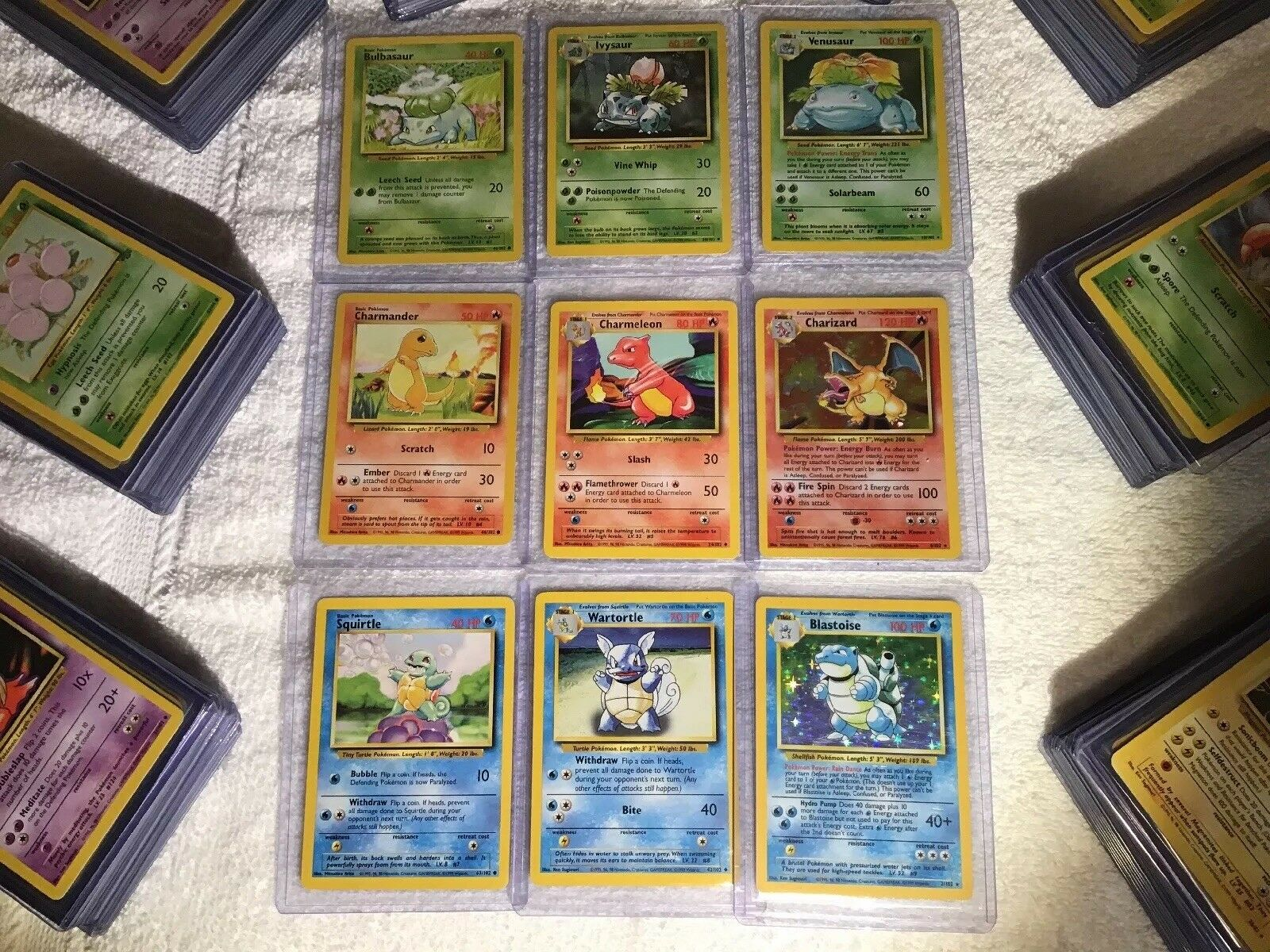 Pokemon 151 Set Complete - 100% Original Classic Cards - ALL 45 HOLOS INCLUDED