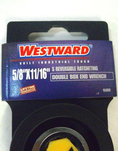 5//8 x 11//16 Ratcheting S Wrench Westward 1LCG9 Reversible Double Box End