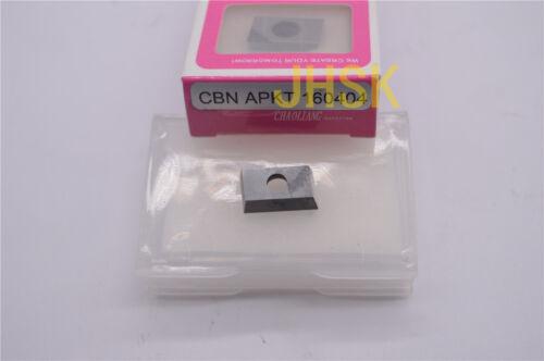 4pcs  APMT160404PDFR CBN cubic boron nitride diamond APKT1604PDER CBN