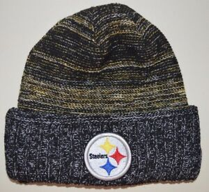 df15f14bb84 Image is loading Pittsburgh-Steelers-winter-hat-one-size-knit-beanie-