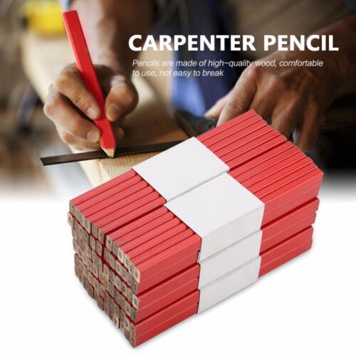 72Pcs 175mm Carpenters Pencils Black Lead For DIY Builder Joiners Woodwork Kit