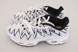 100% autentyczności San Francisco nowe style Details about Nike Mens Air Max Plus TN White Shark Running Shoes White  Black Sz 5 AJ6311-100