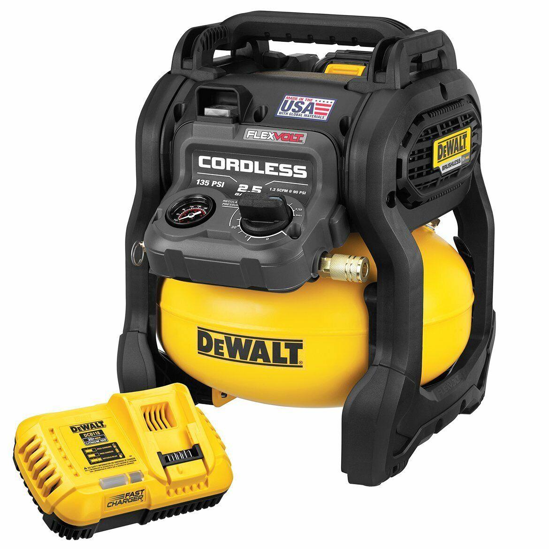 DeWALT DCC2560T1 60-Volt MAX 2.5 Gallon FLEXVOLT Cordless Air Compressor Kit. Buy it now for 299.00