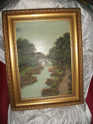 ANTIQUE OIL PAINTING / G H STANDING / 1924