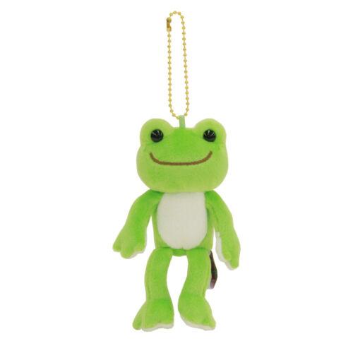 Pickles the Frog Plush Keychain Wakaba Green Rainbow Color Japan