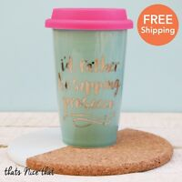 Rather Be Sipping Prosecco Ceramic Travel Mug Thermal Coffee Gift Drink Tea Cup