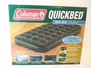 Coleman-Camping-Quickbed-Twin-Size-Air-Mattress-Flocked-Heavy-Duty-NEW