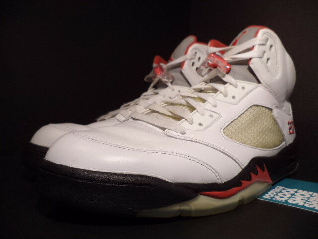the latest 26d1a aecb6 ... 2008 Nike Air Jordan V V V 5 Retro CDP COUNTDOWN WHITE BLACK FIRE RED  WOLF GREY 13 ...