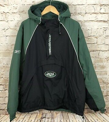 hot sale online db721 45629 New York Jets 1/2 zip Winter Jacket Pullover Coat men XL ...