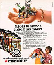 PUBLICITE ADVERTISING 035  1978  GAF  jeux jouets VIEW-MASTER WALT DISNEY