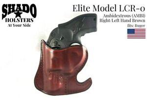 SHADO Leather Holster USA Elite Model LCR-0 AMBI Pocket Holster Brown fits Ruger
