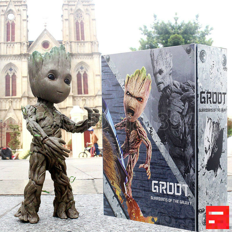 MARVEL Groot Life-Dimensione Action Figure Hot Toys Guardians of The Galaxy Vol. 2 LMS