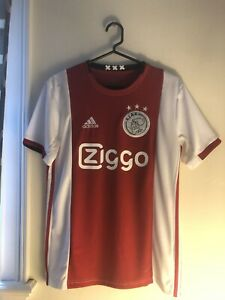 Mens Ajax Amsterdam Home Jersey(2019/2020)(Bold Red/White ...