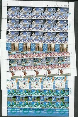 Israel 2000 Millennium Voll Blätter Scott 1385-1388 Ballen 1352-1355 Jade Weiß Mittlerer Osten