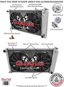 "WR Radiator 19 x 28-1//4/"" Core 73-87 Chevy Truck 73-91 Blazer Suburban 4 Row"