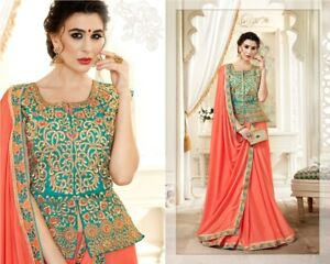 af834fa1984dfc Image is loading Latest-sari-stitched-long-blouse-wedding-Indian-Bollywood-