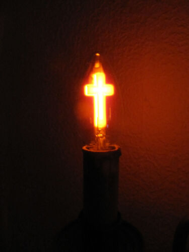 Kommunion SELTENE GOTHIC GLIMM Lampe KREUZ E14 3W 35 x 101mm Ohne Jesus Symbol