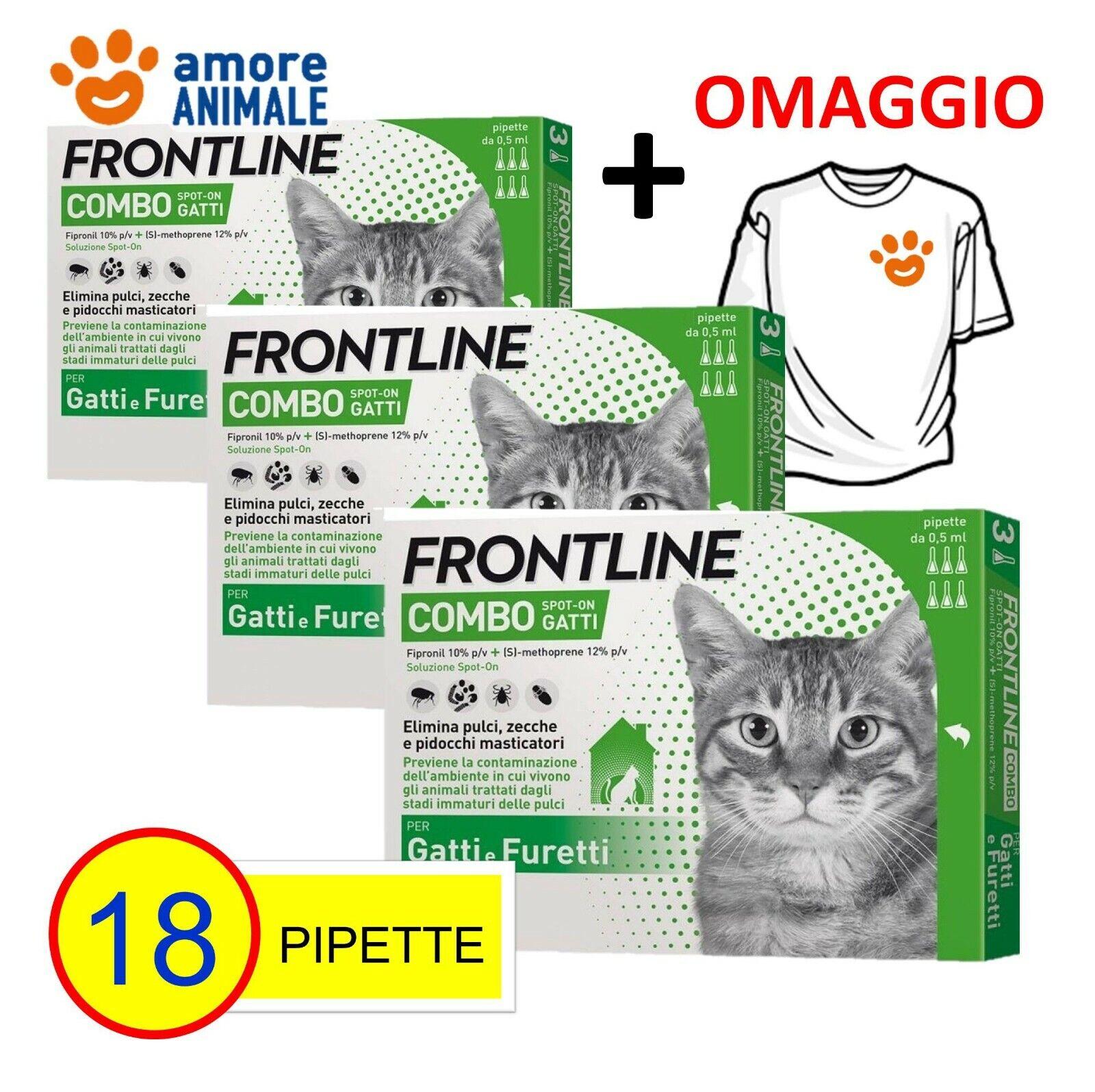 3 CONFEZIONI M  Frontline Combo Gatto  6 pipette → Antiparassitario Gatti