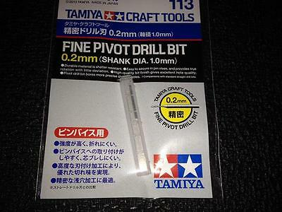 TAMIYA CRAFT TOOLS 74113 FINE PIVOT DRILL BIT 0.2 MM (SHANK DIA.1.0 MM)