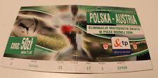 old TICKET * World Cup 2006 q * Poland - Austria in Chorzow