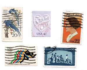 EE. UU.; Lote De 5-la seguridad social, Juegos Olímpicos de Munich, Abigal Adams, Audubon Usado - * S