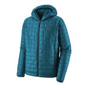 Patagonia Nano Air Hoody Men's Medium Jacket Balkan Blue Great Condition!