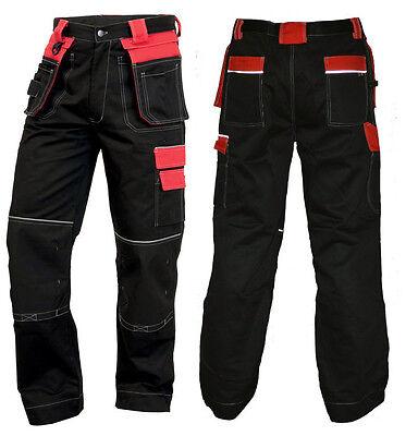 Arbeitshose CXS Bundhose Arbeitskleidung Hose schwarz-rot  TOP Gr 46-60 NEU