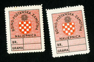 Croatia-Stamps-VF-OG-Hinged-2-Mint-Labels