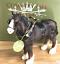 Shire-Cart-Heavy-Horse-in-harness-ornament-figurine-quality-Leonardo-gift-boxed miniatuur 4