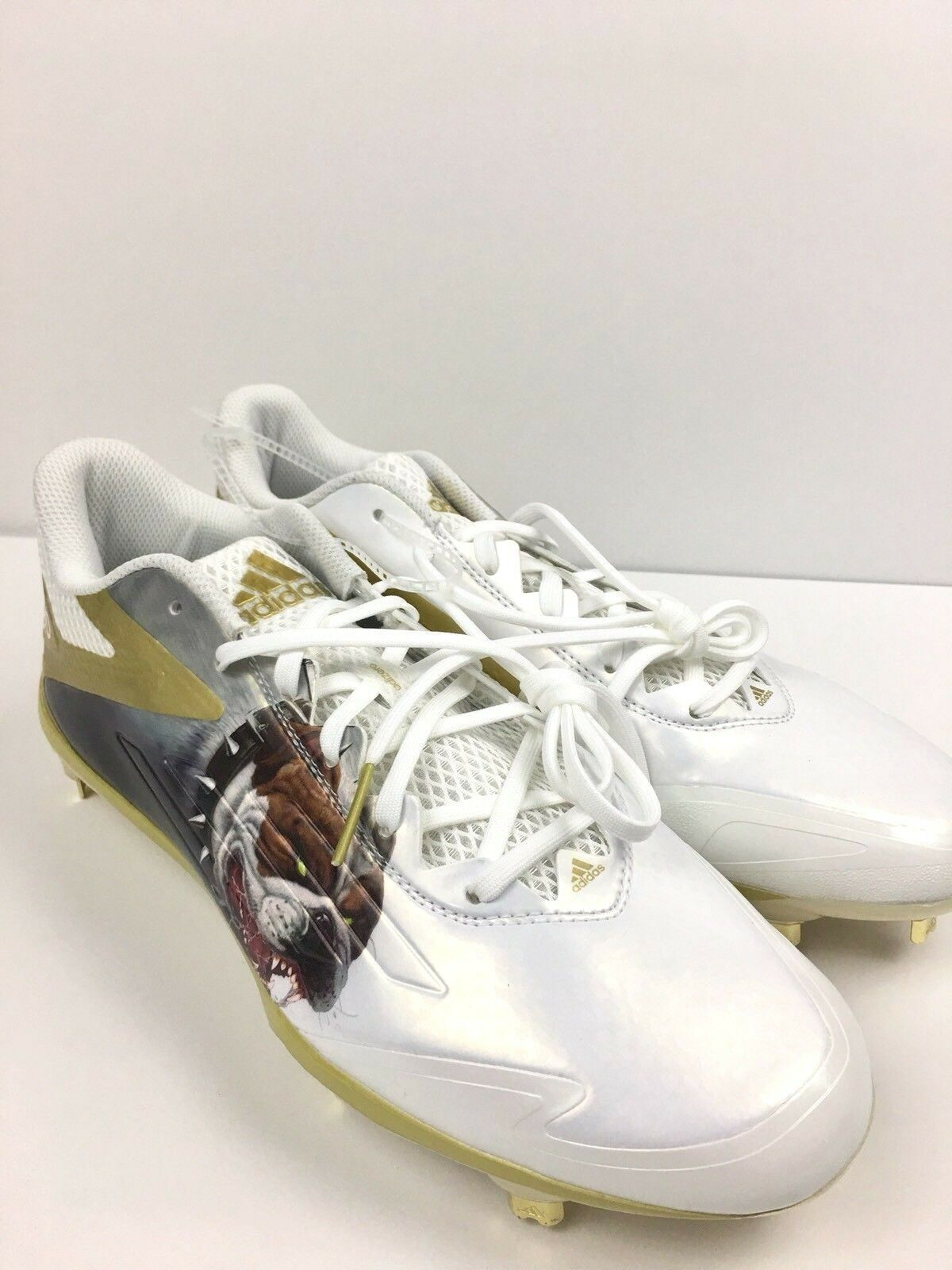 Adidas AfterBurner Gold Uncaged Bulldog Baseball Cleats AQ7132 Mens Price reduction