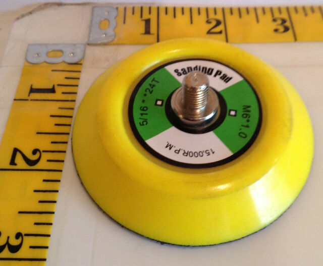 "3"" Hook and Loop Sanding Backup Pad 5/16-24 Male Thread"