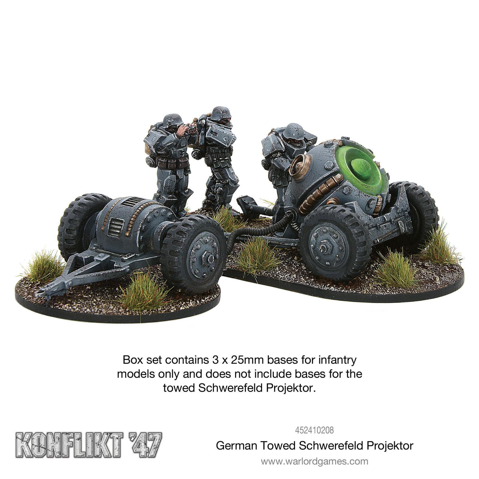 German German German Towed Schwerefeld Projektor Konflikt '47 Warlord Games f3ef64