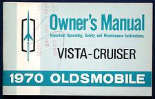 Owner's Manual Betriebsanleitung 1970 Oldsmobile  Vista Cruiser  (USA)