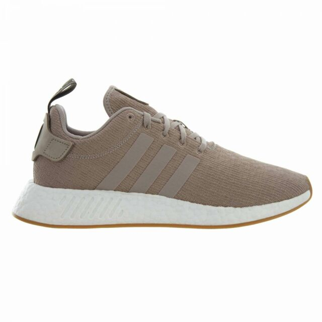 377f59abc6c6c Adidas Nmd R2 Mens CQ2399 Tech Earth Beige Knit Boost Running Shoes Size 13